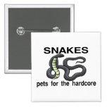 Hardcore Snakes Pinback Button