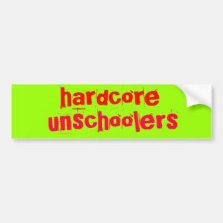 hardcore unschoolers - Customized Car Bumper Sticker