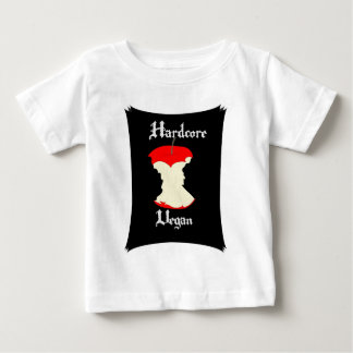 Hardcore Vegan Apple Design Baby T-Shirt