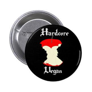 Hardcore Vegan Apple Design Button