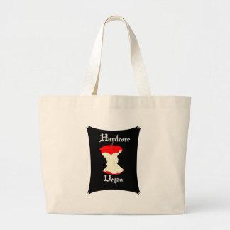 Hardcore Vegan Apple Design Large Tote Bag
