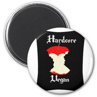 Hardcore Vegan Apple Design Magnet
