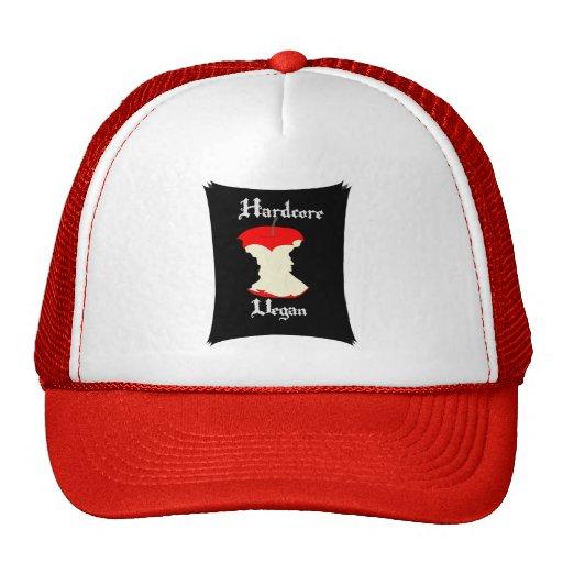 Hardcore Vegan Apple Design Mesh Hats
