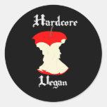 Hardcore Vegan Apple Design Stickers
