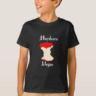 Hardcore Vegan Apple Design T-Shirt