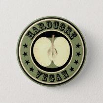 Hardcore Vegan Pinback Button
