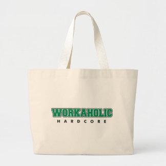 Hardcore Workaholic Large Tote Bag