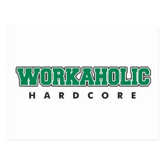Hardcore Workaholic Postcard