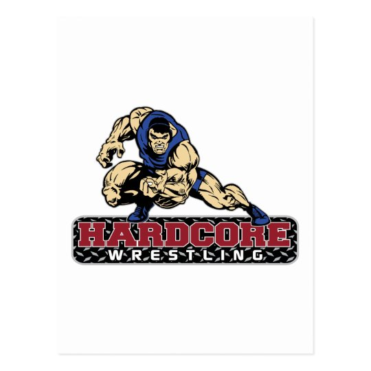 Hardcore Wrestling Postcard