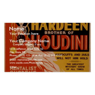 Hardeen brother of Houdini, 'The Mystery Girl' Double-Sided Standard Business Cards (Pack Of 100)