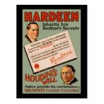 Hardeen hereda los secretos de su hermano tarjeta postal
