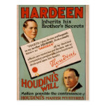 """Hardeen, """"teatro del vintage de la voluntad de Hou Postales"""
