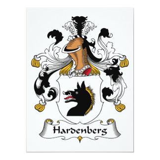 Hardenberg Family Crest Card