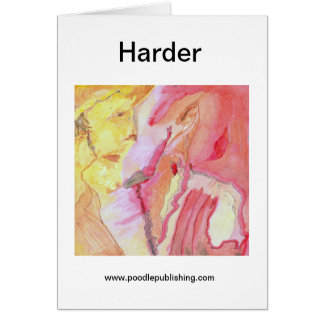 Harder Greeting Card