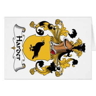 Harder Family Crest Greeting Card
