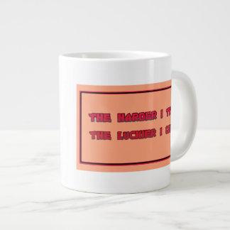 Harder I Try Jumbo Coffee Mug