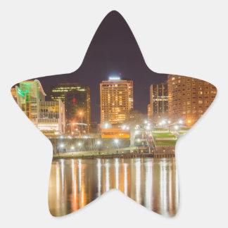 hardford connecticut skyline waterfront star sticker