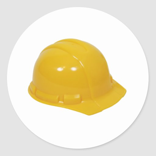 HardHat062509 Round Stickers