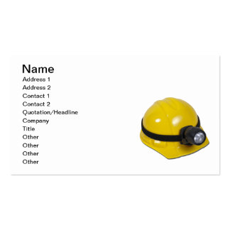 Hardhat with Lamp Double-Sided Standard Business Cards (Pack Of 100)