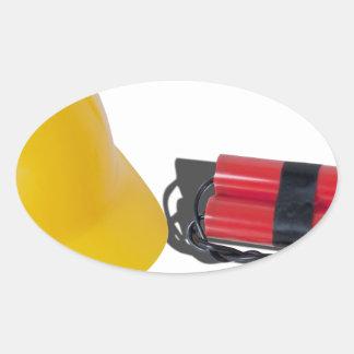 HardHatDynamite052714.png Oval Sticker