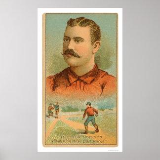 Hardie Henderson Baseball 1888 Poster