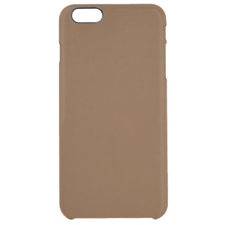 Hardily Earthy Brown Color Clear iPhone 6 Plus Case