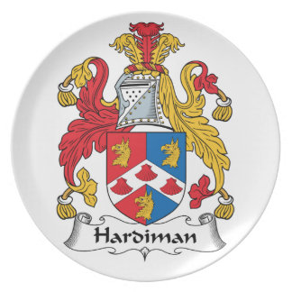 Hardiman Family Crest Party Plates