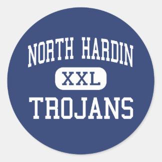 Hardin del norte - Trojan - alto - Radcliff Pegatina Redonda