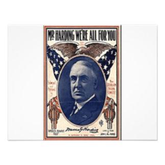 Harding 1920 comunicado personal