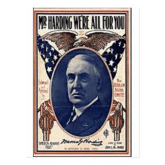 Harding 1920 postal