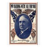 Harding 1920 tarjetones
