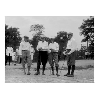 Harding Golf Foresome, 1920s Print