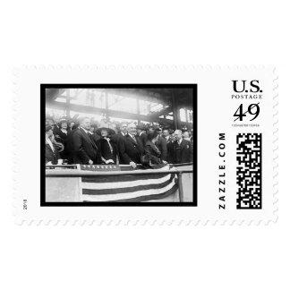 Harding Hoover Wives Baseball 1922 Postage Stamp
