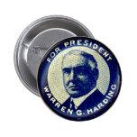 Harding para el presidente - botón pins