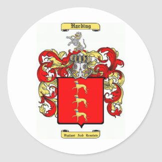 Harding Pegatina Redonda