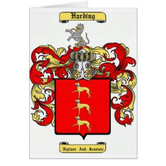 Harding Tarjeta De Felicitación