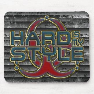 HardIs mi estilo - hardstyle del esquema del oro Tapetes De Ratones