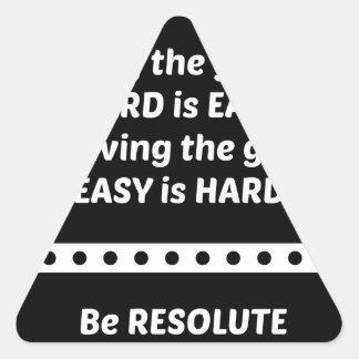 HardisEasyBW.jpg Triangle Sticker