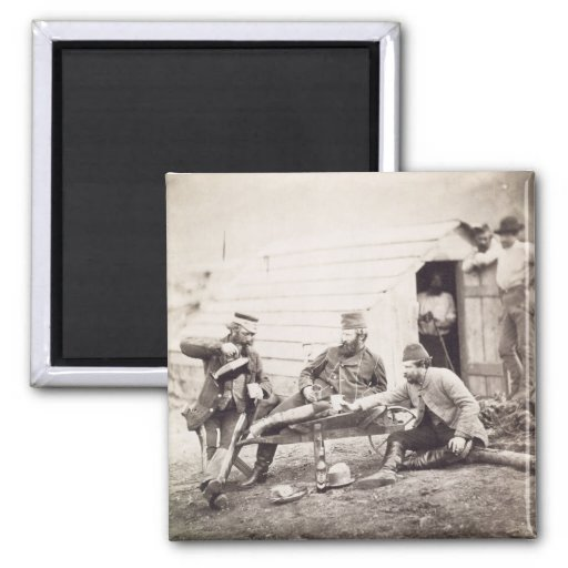 Hardships in the Camp (Colonel Lowe and Captains B 2 Inch Square Magnet
