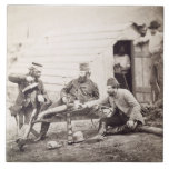 Hardships in the Camp (Colonel Lowe and Captains B Ceramic Tile
