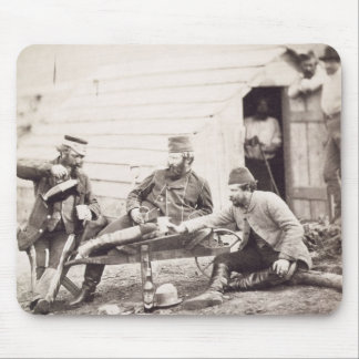 Hardships in the Camp (Colonel Lowe and Captains B Mouse Pad
