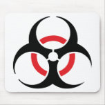 hardstyle black red icon mousepads