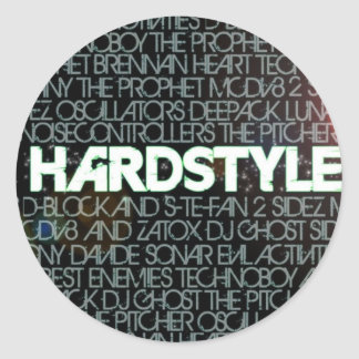 hardstyle classic round sticker