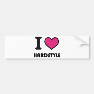 hardstyle del corazón i pegatina de parachoque