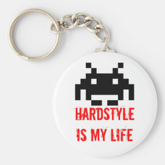 HARDSTYLE is my life - Invaders version Keychain