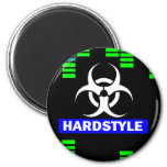 Hardstyle pattern 2 inch round magnet
