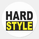 Hardstyle Pegatina Redonda