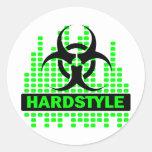 Hardstyle Tempo design Classic Round Sticker