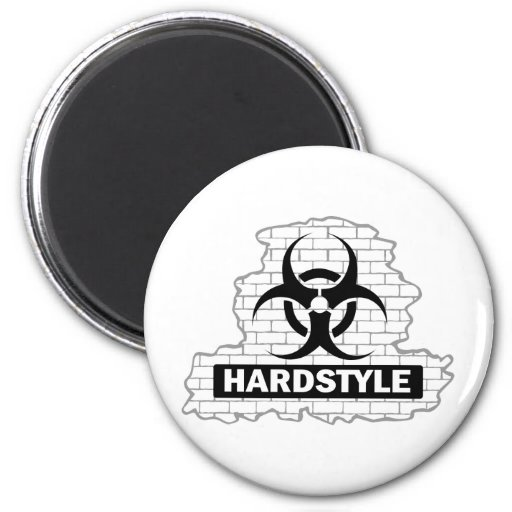 Hardstyle Wall Smash Design 2 Inch Round Magnet