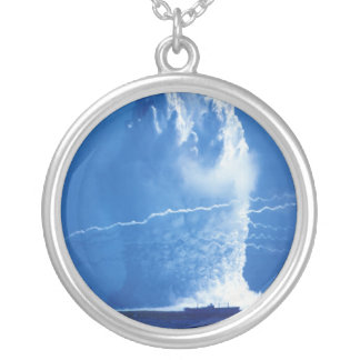 Hardtack Umbrella Underwater Nuclear Test 1958 Silver Plated Necklace